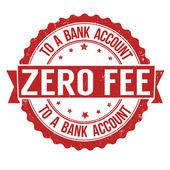 Zero fee to a bank account — Stock Vector