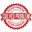 Solved problem stamp — Stock Vector #41519787