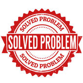 Solved problem stamp — Stock Vector