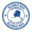 Alaska day stamp — Stock Vector