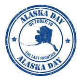 Alaska day stamp — Stock Vector