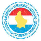 Luxembourg stamp — Stock Vector