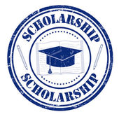 Scholarship stamp — Stock Vector