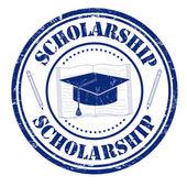 Scholarship stamp — Stock Vector