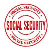 Sociale zekerheid stempel — Stockvector