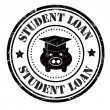 Student loan stamp — Vetorial Stock