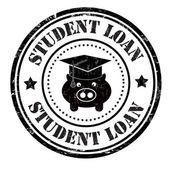 Student loan stamp — Stock Vector