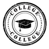 College stamp — Stock Vector