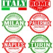 Italy cities stamps — Stock Vector #41778959
