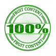 Fruit Content stamp — Stock Vector #41838403