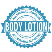 Body Lotion stamp — Stock Vector