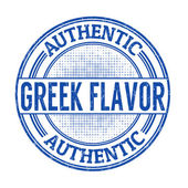 Authentic greek flavour stamp — Stock Vector