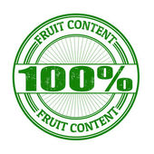 Fruit Content stamp — Stock Vector