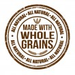 Stock Vector: Made with whole grains stamp