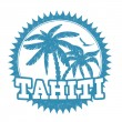Stock Vector: Tahiti stamp