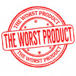 Worst product stamp — Stock Vector #41906599