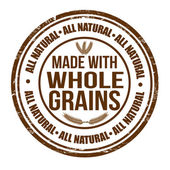 Made with whole grains stamp — Stock Vector