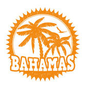 Bahamas stamp — Stock Vector