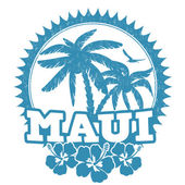 Maui stamp — Stock Vector