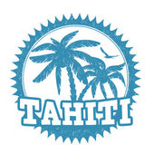 Tahiti stamp — Stock Vector