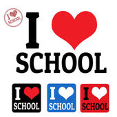 I love school sign and labels — Vetorial Stock