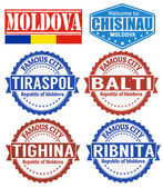Moldova stamps — Stock Vector