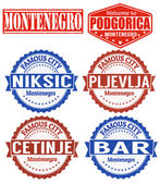 Montenegro stamps — Stock Vector