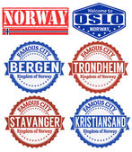 Norway stamps — Stock Vector