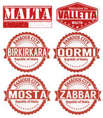 Malta stamps — Stock Vector