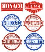 Monaco stamps — Stock Vector