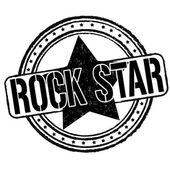 Rock star stamp  — Stock Vector