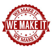 We make it stamp — Stock Vector