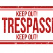 Stock Vector: No trespassing stamp