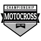 Motocross championship label or stamp — Stock Vector