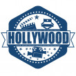 Hollywood stamp — Stock Vector