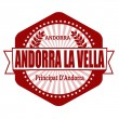 Andorra la Vella capital of Andorra label or stamp — Stock Vector #42494855