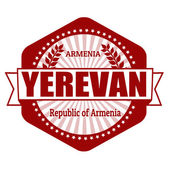 Yerevan capital of Armenia label or stamp — Stock Vector