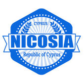 Nicosia capital of Cyprus label or stamp — Stock Vector