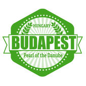 Budapest capital of Hungary label or stamp — Vecteur