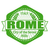 Rome capital of Italy label or stamp — Vettoriale Stock