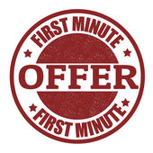 First minute offer stamp — Stock Vector