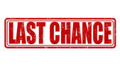 Last chance stamp — Stock Vector