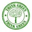 Think green stamp — Stock Vector