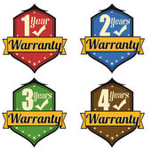 1-4 Years Warranty labels set — Stock Vector