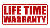 Life time warranty stamp — Vettoriale Stock