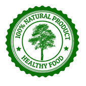 100 Percent Natural Product stamp — Vetorial Stock
