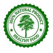 100 Percent Natural Product stamp — Vetorial Stock