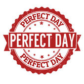 Perfect day stamp — Stock Vector