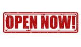 Open now stamp — Stock Vector