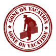 Gone on vacation stamp — Stock Vector #42752763